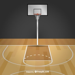 Basketball free vector court