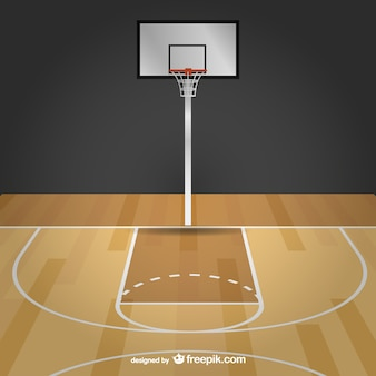 Basketball free vector court