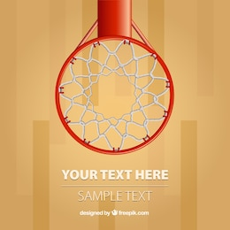 Basketball hoop vector background