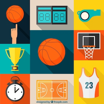 Basketball icons collection