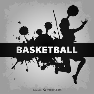 Basketball players vector template