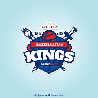 Basketball team badge