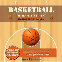 Basketball vector free template design