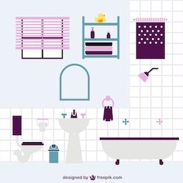 Bathroom flat vector design