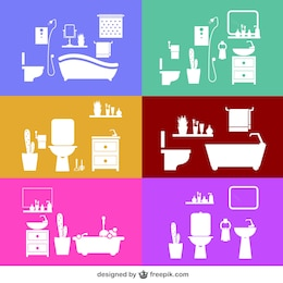 Bathroom vector design templates