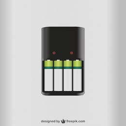 Battery charger vector