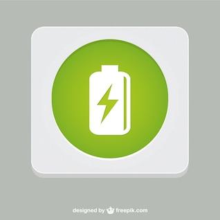 Battery vector symbol