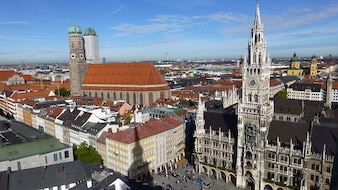 bavaria munich town state capital hall marienplatz