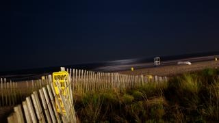 Beach at night, sky