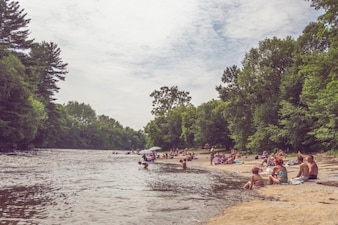 Beach at the river