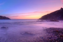 beach sunrise  scene