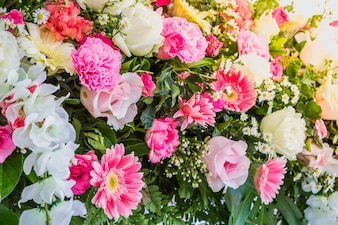 Beautiful arrangement with colorful flowers