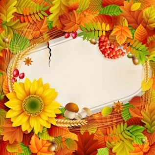 beautiful autumn floral photo background  vector