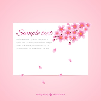 Beautiful cherry blossom card