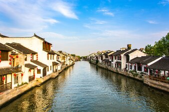 Beautiful chinese village