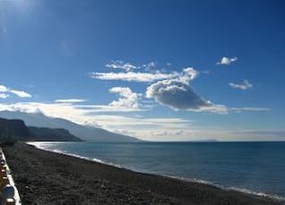 Beautiful Coastline and Summer Sky