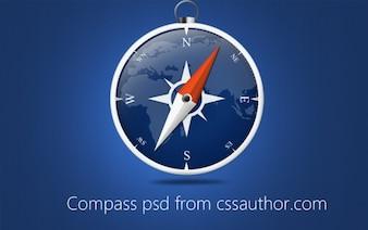 Beautiful Compass PSD