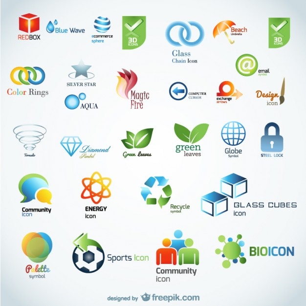 beautiful d icon vector material
