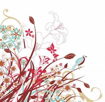 美しい花のベクトル図