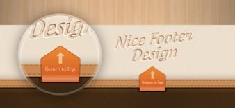 Beautiful footen design psd template