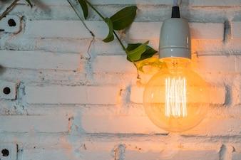 Beautiful light lamp decor glowing