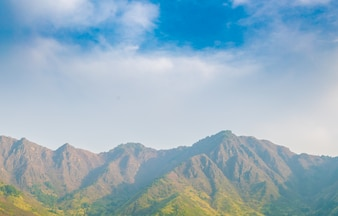 Beautiful mountains landscape Kashmir state, India .