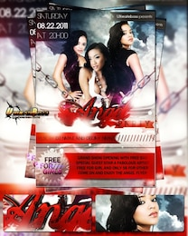 beautiful party angel flyer & poster