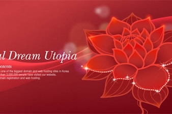 Beautiful red lotus flower abstract background