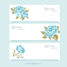 Beautiful seasonal banners with roses