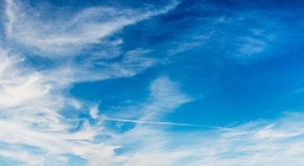 Beautiful soft clouds on blue sky