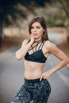 Beautiful sporty girl