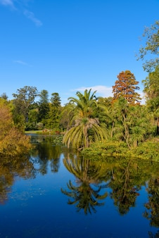 Beautiful view of Royal Botanic Garden, in Melbourn, Australia.