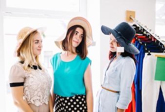 Beautiful women in hats
