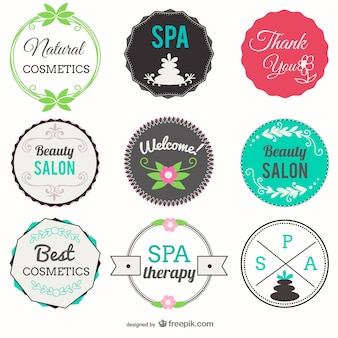 Beauty salon and spa badges