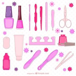 Beauty salon elements collection