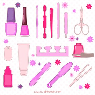 Beauty salon elements collection