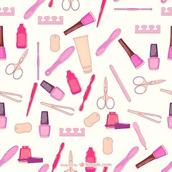 Beauty salon pattern vector