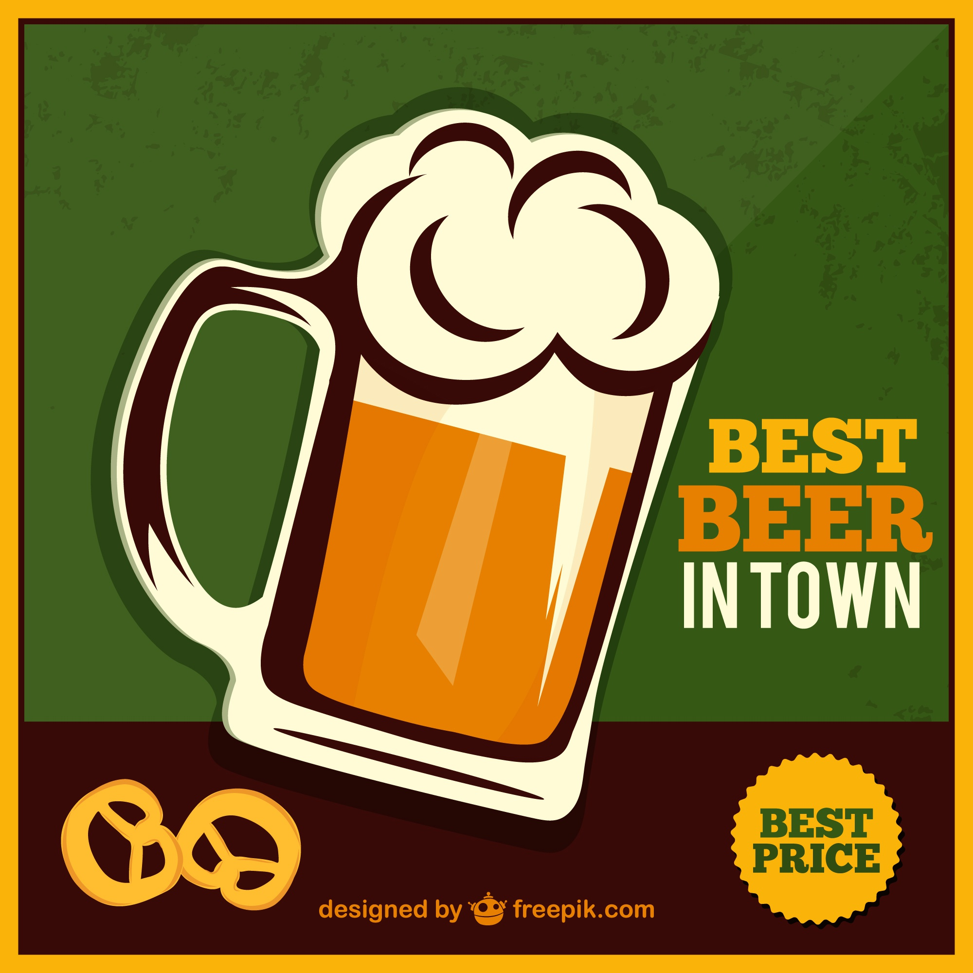 Beer jar free vector