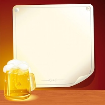 Beer with white background