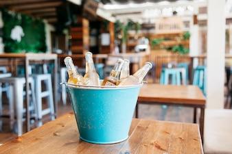 Beers in bucket