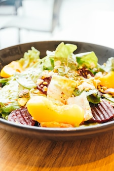 Beetroot with vegetable salad