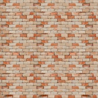 Beige and orange brick wall