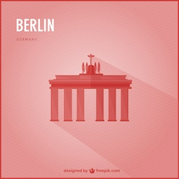 Berlin landmark vector