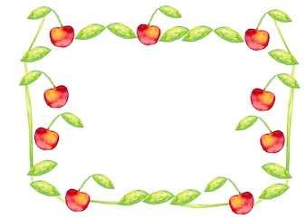 Berry template vegetarian greeting natural