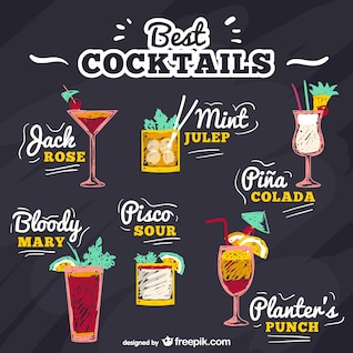 Best cocktails vector