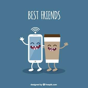 Best friends illustration