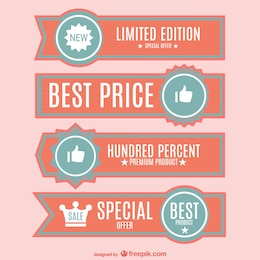 Best price banners set