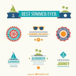 Best summer ever badges set