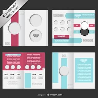 Bi-fold editable brochure mock-up