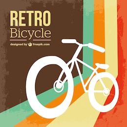 Bicycle retro free vector